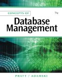 Concepts of Database Management 7th 2011 9781111825911 Front Cover