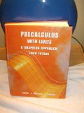 Precalculus with Limits A Graphing Approach 3rd 2000 9780618052912 Front Cover