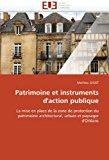 Patrimoine et Instruments D'Action Publique 2010 9786131555916 Front Cover