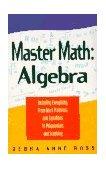 Master Math Algebra 1st 1996 9781564141941 Front Cover