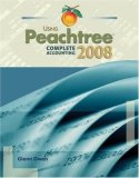 Using Peachtree Complete Accounting 2008 1st 2008 Revised  9780324560954 Front Cover