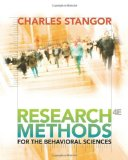 Research Methods for the Behavioral Sciences 4th 2010 9780840031976 Front Cover