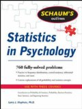 Schaum's Outline of Statistics in Psychology 1st 2008 9780071545990 Front Cover