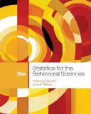 Statistics for the Behavioral Sciences 9th 2012 9781111830991 Front Cover